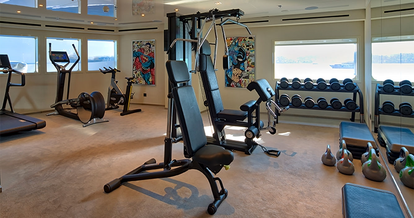 Serenity Upper Deck Gym Area