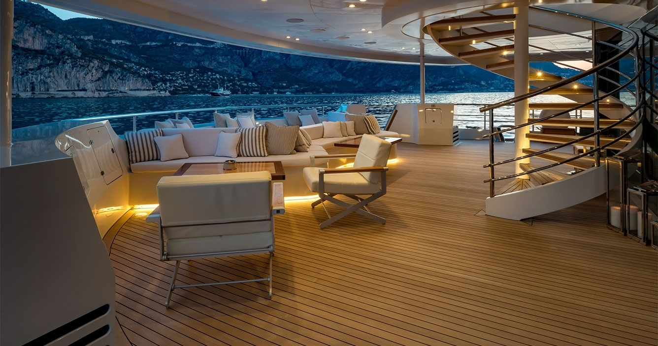 Serenity Main Deck Outdoor Sitting area